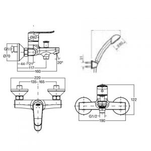 Neo Modern Exposed B & S Faucet